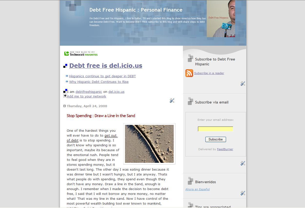 debt free  blog